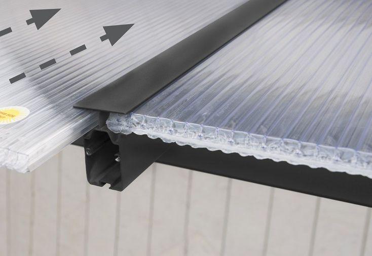 Panneaux de polycarbonate clair 16 mm