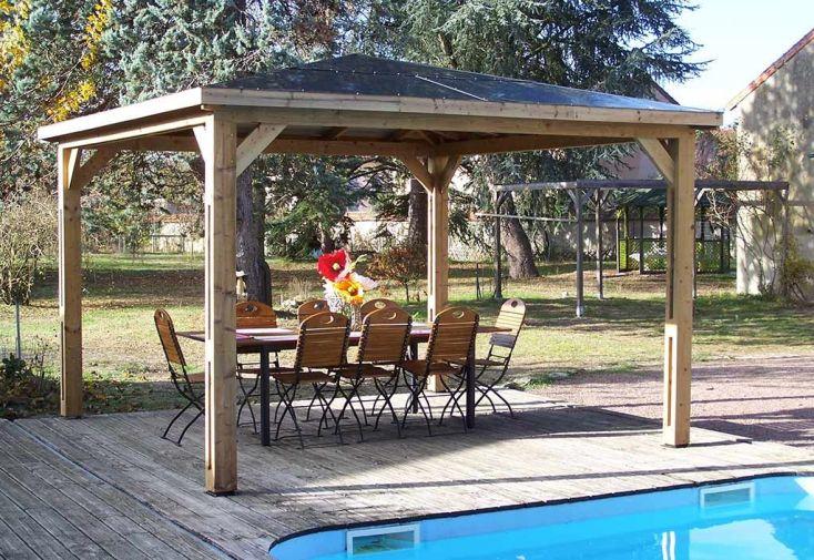 Pool House en Bois Blueterm 12 m²