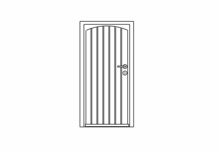Porte bois pour abri exterior 28mm 80x188 gardival for Porte bois exterieur abri