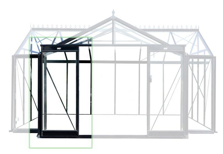 Porte coulissante simple pour serre orangerie