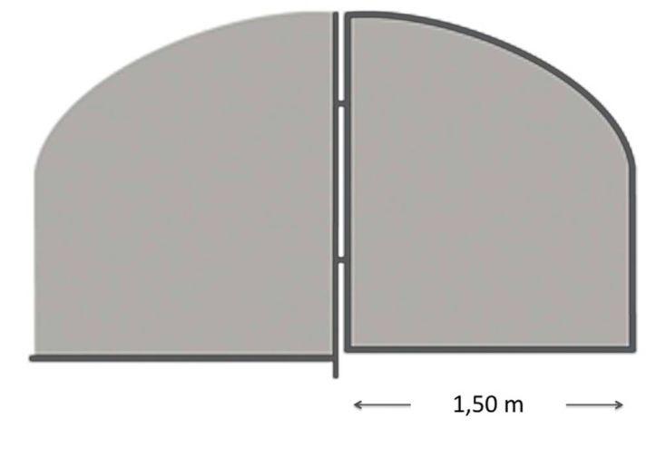 Porte pour Serre de Jardin Tunnel Richel Pied Droit 3 m