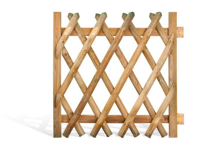 Portillon Croisé en Bois Traité 100x100cm (l,h)