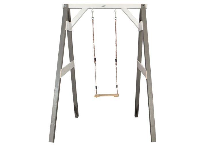 portique balancoire 1 place simple grise blanche axi