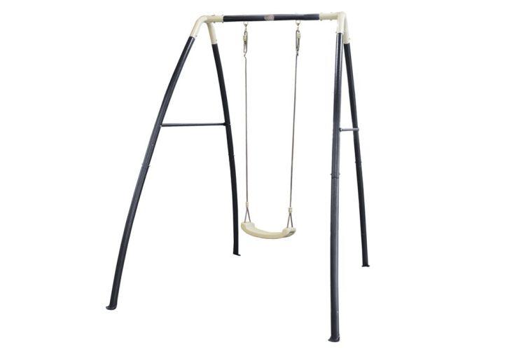 portique balançoire en acier pour enfant à 1 agrès