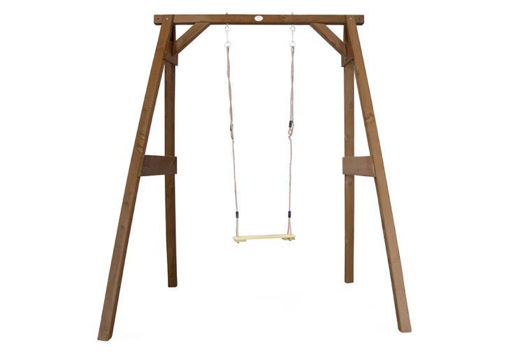 portique en bois de hemlock une balançoire marron Axi
