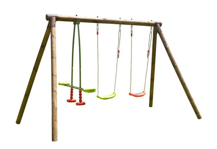 Portique pour enfants en bois traité autoclave et certifié FSC