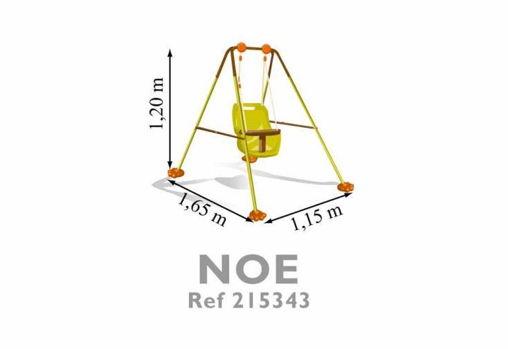 Portique Balancoire Acier Noé Pliable 1,20 m