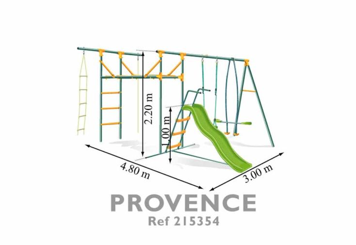 Portique Balancoire Acier Provence 2,20 m