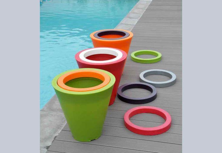 Jardinière PVC Colors Open S avec Anneau (Ø60/30x60)
