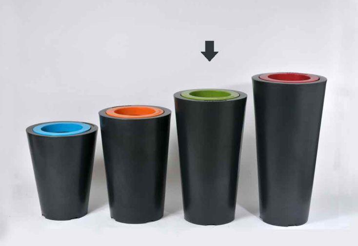Jardinière PVC Colors Up XS avec Anneau (Ø40/28x70)