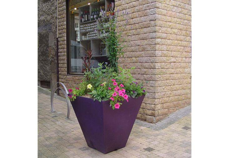 Pot de fleurs carré en plastique Green City Square S