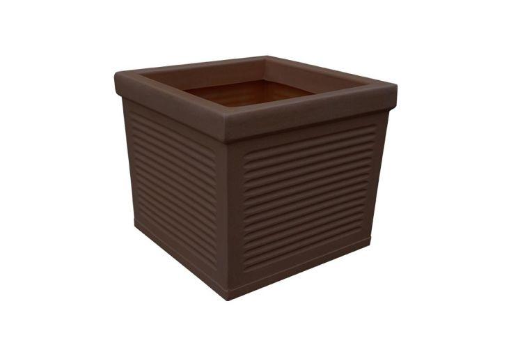 Jardinière en bois composite carrée 43 x 40 cm Roto