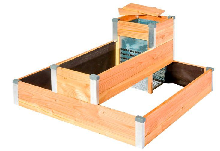 Carré potager composteur en bois Douglas Mon Petit Potager