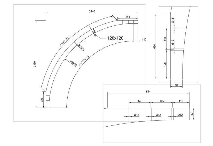 Poteau Cintré pour Carports Modulables Solid