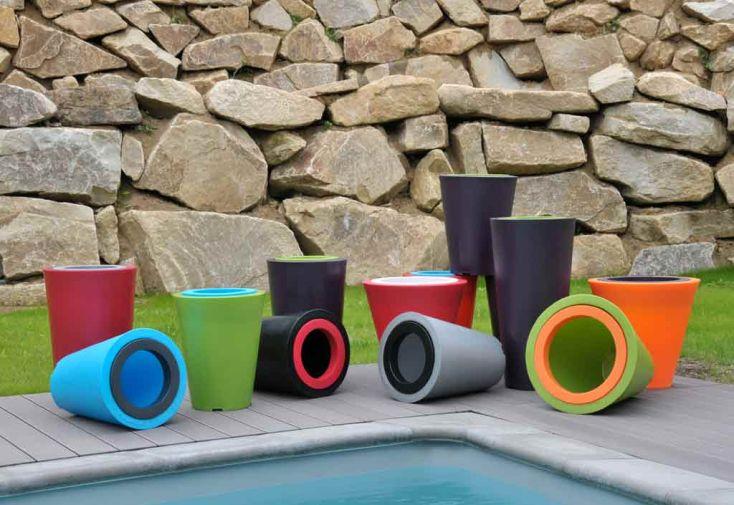 Jardinière PVC Open XS avec Anneau (Ø50/25x50)