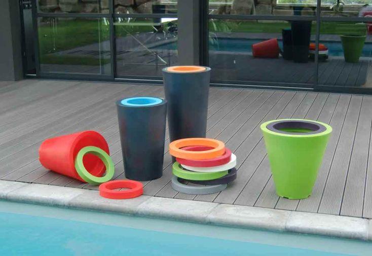 Jardinière PVC Colors Up M avec Anneau (Ø50/33x100)