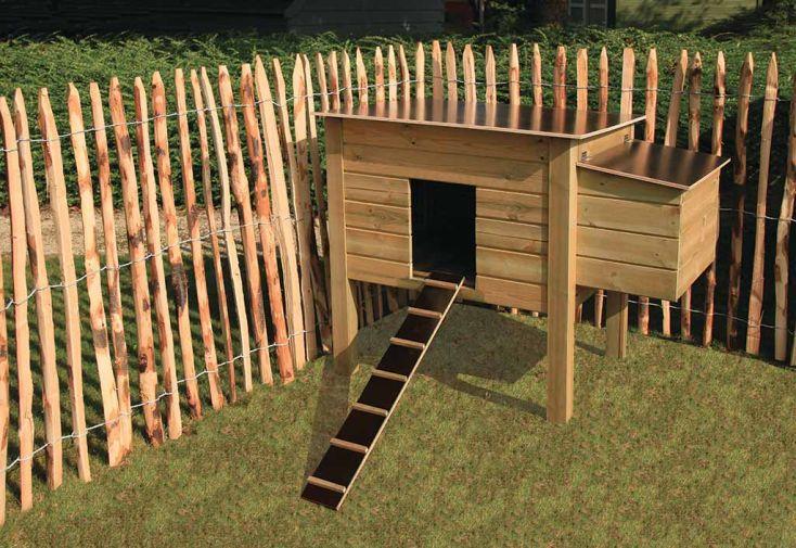poulailler en bois trait autoclave 21 mm plusieurs dimensions gardival. Black Bedroom Furniture Sets. Home Design Ideas