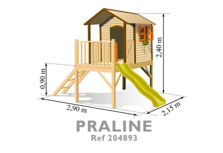 Maisonnette bois Praline