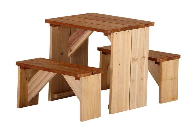 Maison Enfant Bois Milan + Table de Pique-NiqueZidZed
