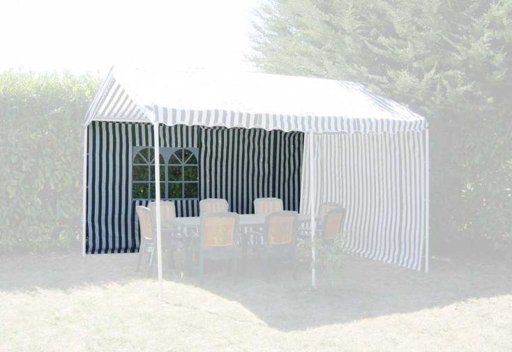 Rideau tonnelle Toli  polyester 4 m  rayé vert & blanc