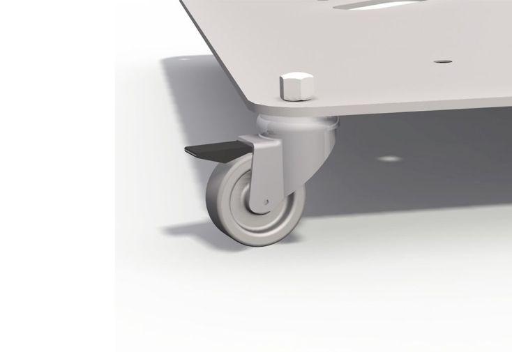 Roues Pivotantes pour Socle en Aluminium Parasol Rond P50 Prostor