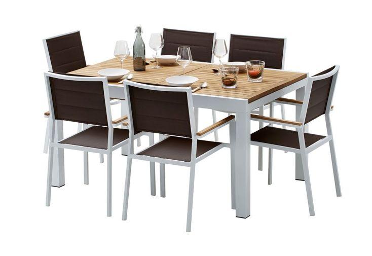 Table de salon en teck maison design for Salon en teck