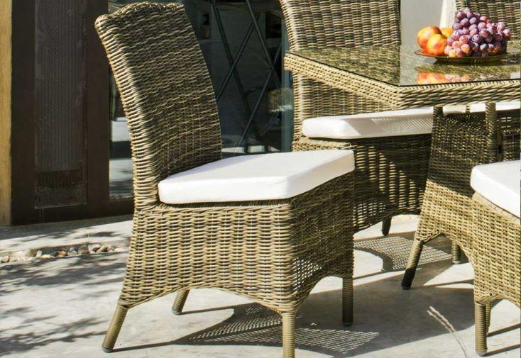 Salon de Jardin en Résine Tressée Borsalino Table + 8 Chaises