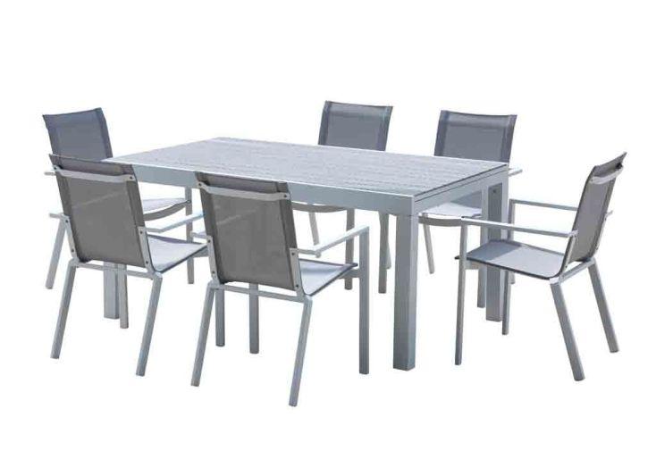 table à manger extensible et ses chaises - plusieurs tailles