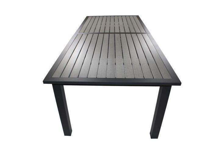 Table de Jardin Aluminium et Composite (224/324x100cm) + 8 Fts