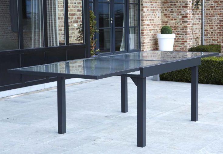 Salon de Jardin Modulo: Table Extensible + 6 Fauteuils + 4 Chaises