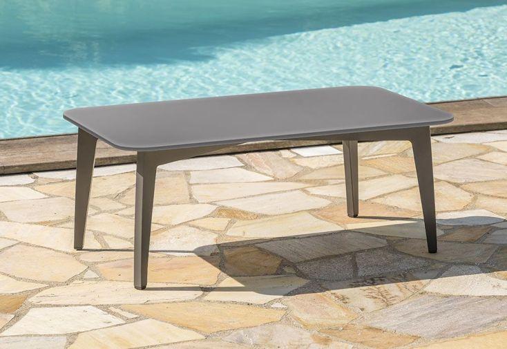Salon De Jardin En Aluminium Table Basse Et Canape 5 Places Florence