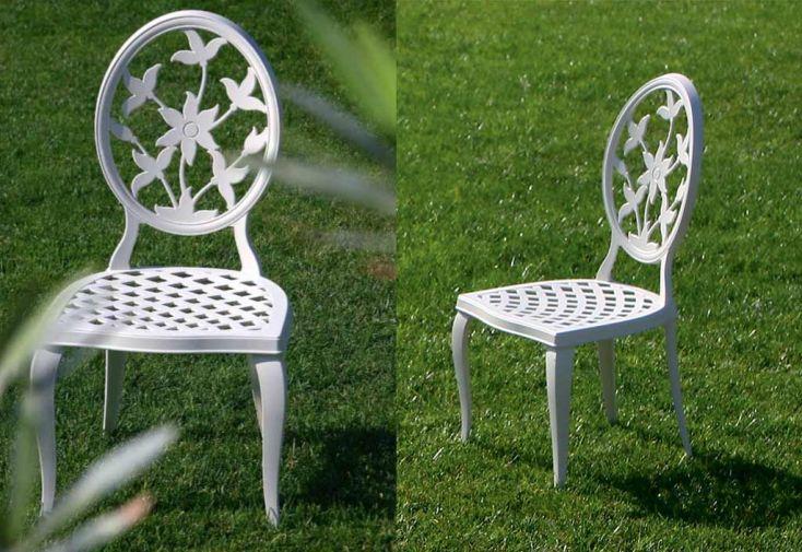Salon de Jardin en Aluminium Versailles: 1 Table + 6 Chaises