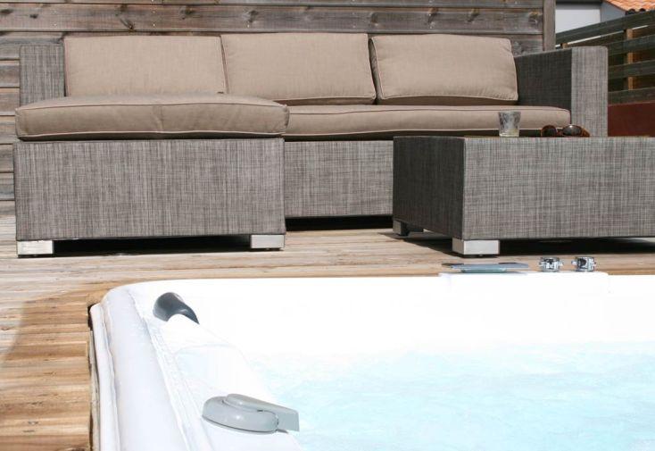 Salon de jardin canap textil ne malibu canap 3 - Salon de jardin aluminium textilene 2 ...