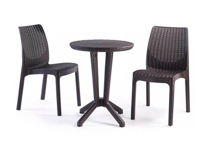 salon de jardin bistro 2 places table fauteuils chal t. Black Bedroom Furniture Sets. Home Design Ideas