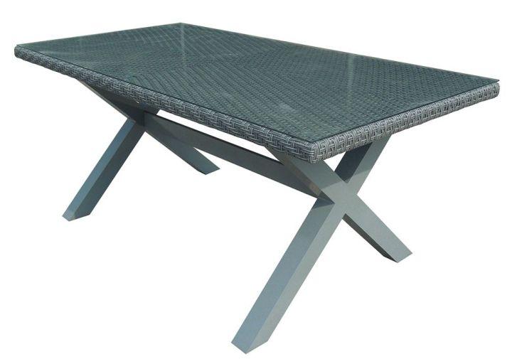 Salon de Jardin Résine Tressée : 1 Table + 2 Fauteuils + 6 Chaises