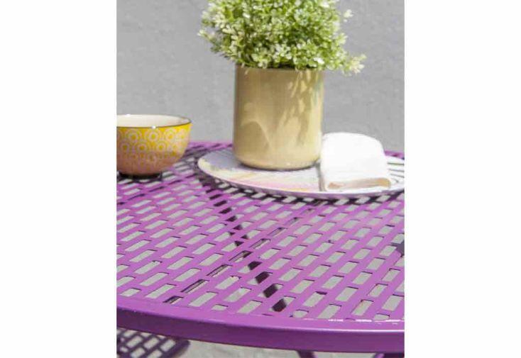 Salon de Jardin Flora : 1 Guéridon + 2 Chaises (2 Coloris)