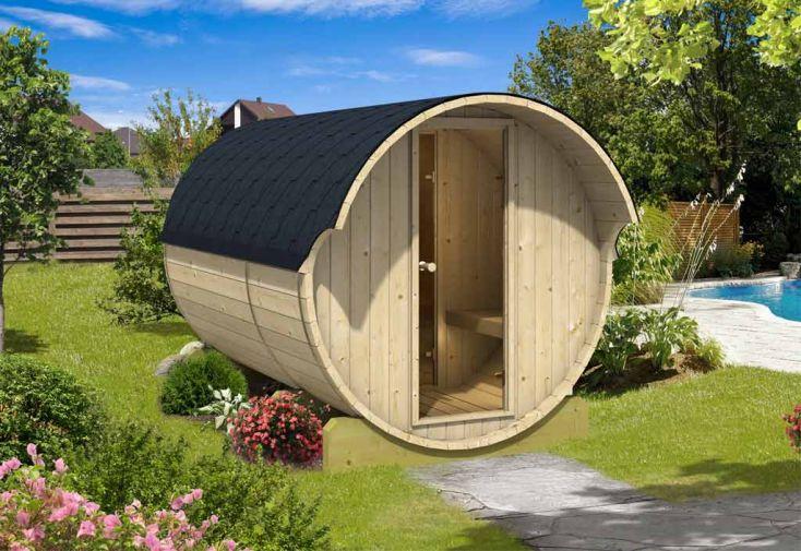 Sauna d'extérieur 330 en Bois 42mm 2 Pièces (Poêle en option)