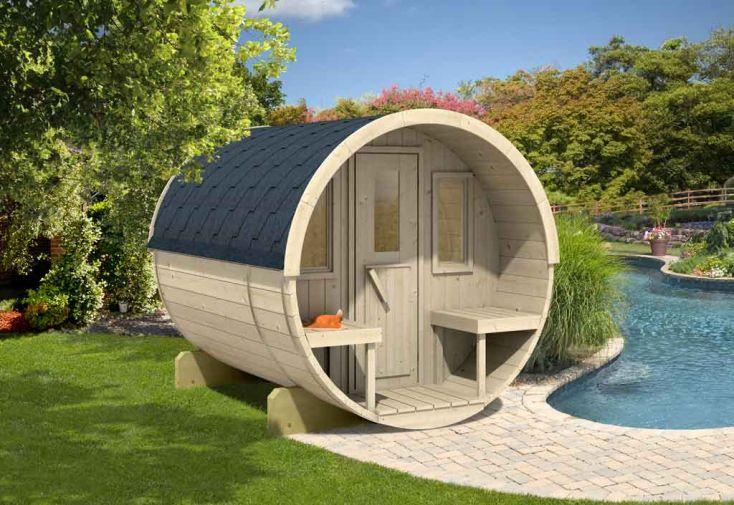 Sauna d'Extérieur Barrel 250 (Poêle en option)