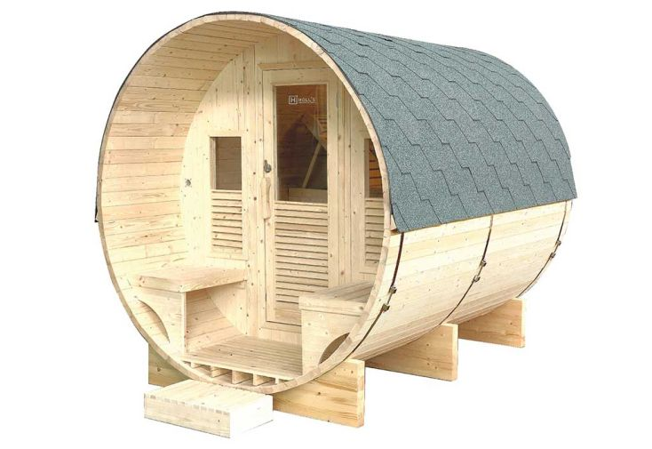 Cabine de Sauna de Jardin en Epicéa Holl's Gaïa Luna