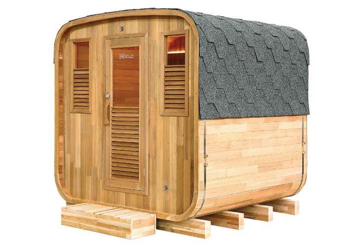 Sauna d'Extérieur en Bois de Cèdre Rouge 6 Personnes Holl's Gaïa Nova