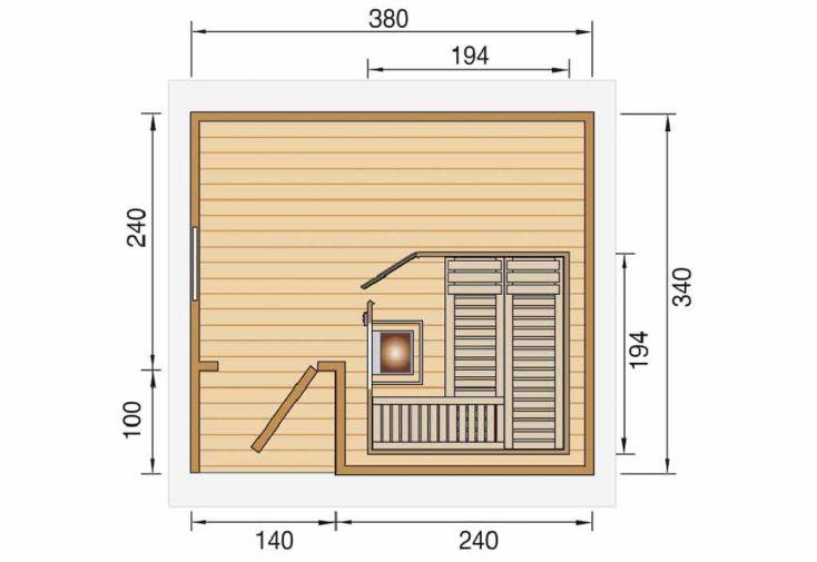 sauna d 39 ext rieur pokka abri sauna po le sauna d. Black Bedroom Furniture Sets. Home Design Ideas