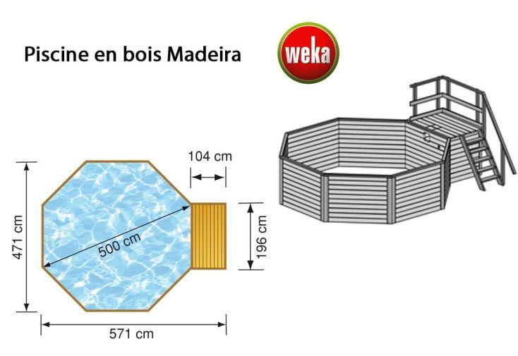 Piscine bois hors sol madeira kit 18 2 m3 d5 weka for Piscine hors sol bois en kit