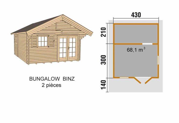 Bungalow Binz Weka (430x510x286)