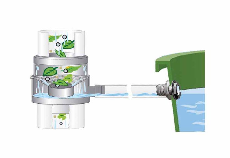 Cuve Récupération d'Eau Pluie Rect Garantia 300 L Vert