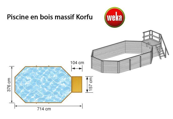 Piscine Bois Hors-Sol Korfu 20,4 m3 (3,76x7,14)