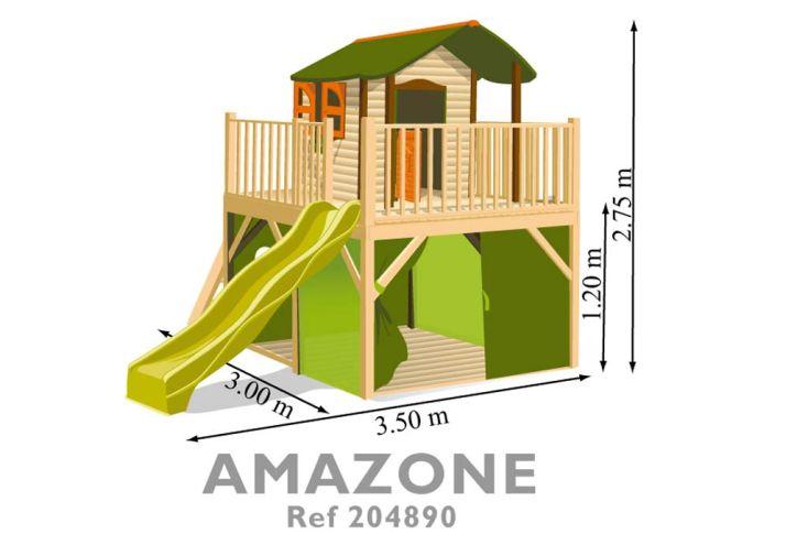 Maison Enfant Bois et Plastique Amazone