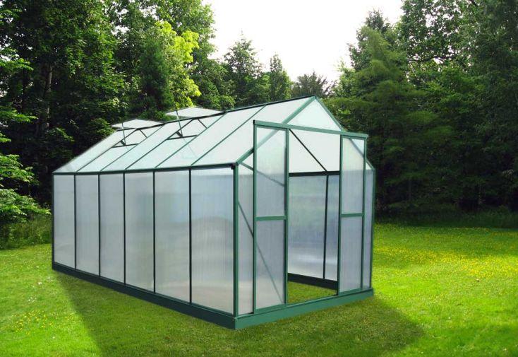 Serre de Jardin Polycarbonate 12,61 m² (3,01x4,19m)