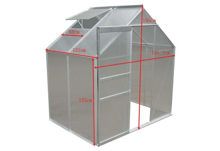 Serre de Jardin Polycarbonate 2,51 m² (192x131)