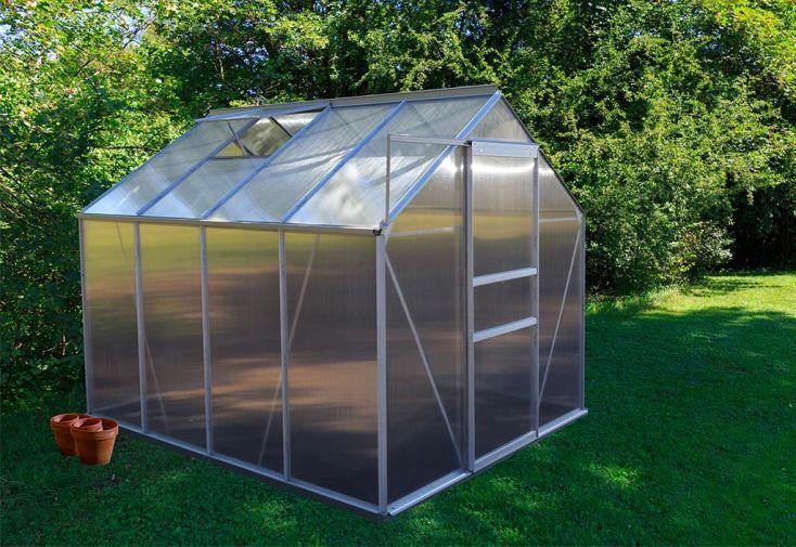 Serre de jardin en aluminium et parois polycarbonate 4 mm