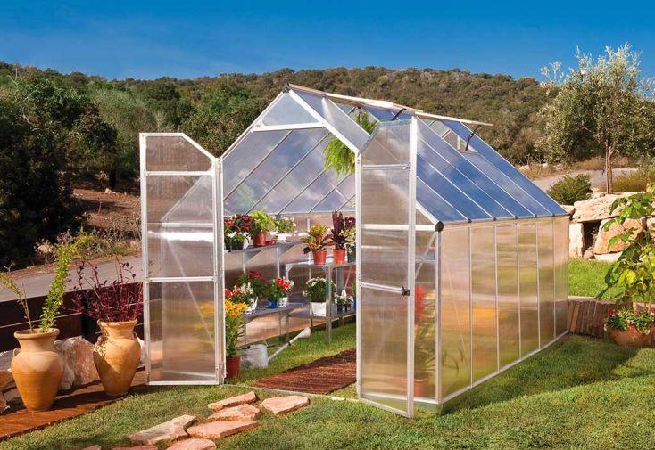 Serre de jardin Palram polycarbonate et aluminium Essence 8x12